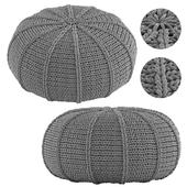 Knitted Pouf Zen Pebble
