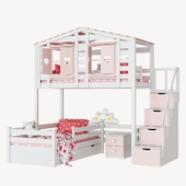 Children's 2-level bed lodge Bilbao set 2