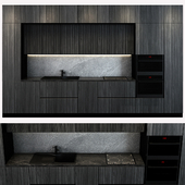 Stylish Italian black Kitchen Design_019