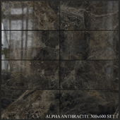 Yurtbay Seramik Alpha Antracite 300x600 Set 1