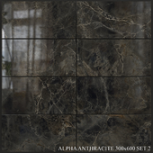 Yurtbay Seramik Alpha Antracite 300x600 Set 2