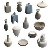 Набор глиняной посуды v2