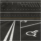 Marked asphalt