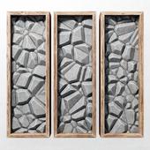Stone wall frame / Стена из камней в рамках