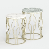 ZARA HOME round marble tables (set of 2)