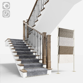 Classical staircase with carpet