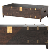 CAYDEN CAMPAIGN RECTANGULAR TRUNK TABLE Dark