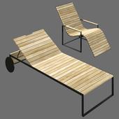 Roshults Garden Sun Chair & Garden Lounger