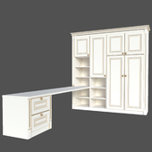 Wardrobe and desk