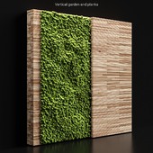 Vertical garden and planks 2