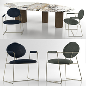 Baxter Gemma chair and Baxter Lagos table