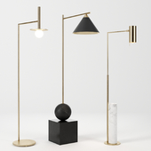 Floor lamps set by Circa Lighting & Kelly Wearstler