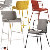 Truba Met Stool and Chair