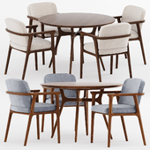 REN DINING TABLE C1100 and Zio Dining Chair