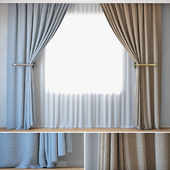 Curtains 17 | Curtains with Tulle | Rohi | Credo | Two colors (For refilling)