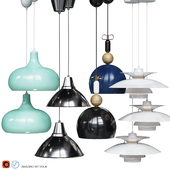 Four Pendant Lights scandinavian amazing set vol.18