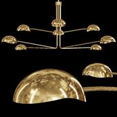 Restoration Hardware CONVESSI CHANDELIER ROUND 72 Brass