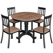 Hekman Homestead Round Pedestal Dining Table
