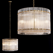 Restoration Hardware SAN MARCO 1-TIER ROUND CHANDELIER 22 Brass