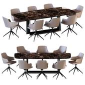 Dragon Keramik Table Wendy Chair by Cattelan Italia