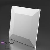 OM Gypsum 3D panel CHOCO by Artpole