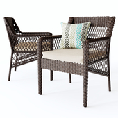 Benedetto Patio Dining Chair with Cushion