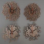Honeycomb _ & _ Laser_cut_Wood_Wall_Clock