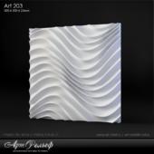 Plaster 3d panel Art-203 from Art Relief