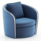 Swivel Club Chair with channel back