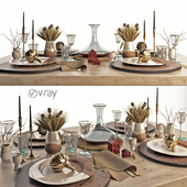 decorative set of dishes