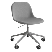 Fiber Side Chair Swivel Base W. Castors & Gas Lift