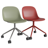 Fiber Side Chair Swivel W. Castors