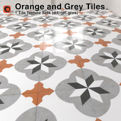Orange and Grey Pattern Tiles