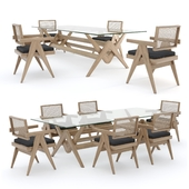 Cassina Capitol complex table and chair