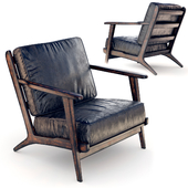 Modern Brooks Leather Lounge Chair zin home