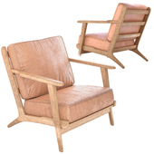 Modern Brooks Leather cremia Lounge Chair