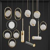 Set of Suspended Chandeliers Romatti;lampatron;lee Broom