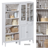 Idanäs Ikea Шкаф открытый и со стеклянными дверцами