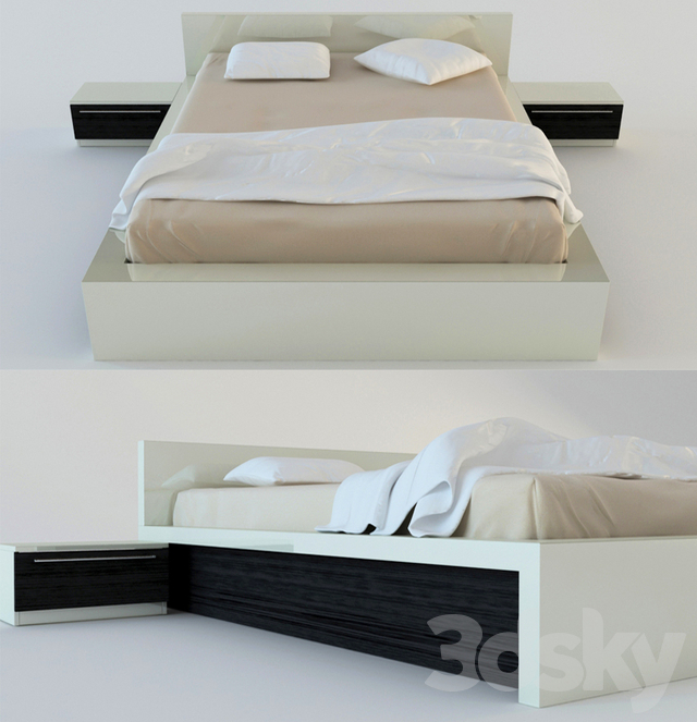 2 double bed with night tables