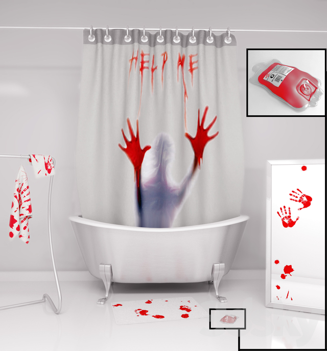"Shower set ""Blood Bath"""
