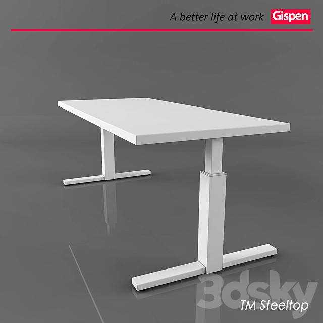Office table from Gispen Steeltop