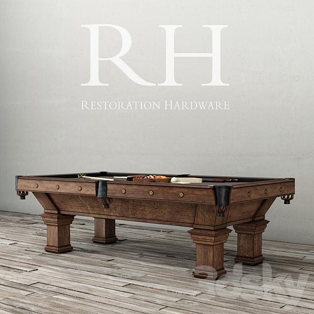 RH / BRUNSWICK VINTAGE 1906 BILLIARDS TABLE