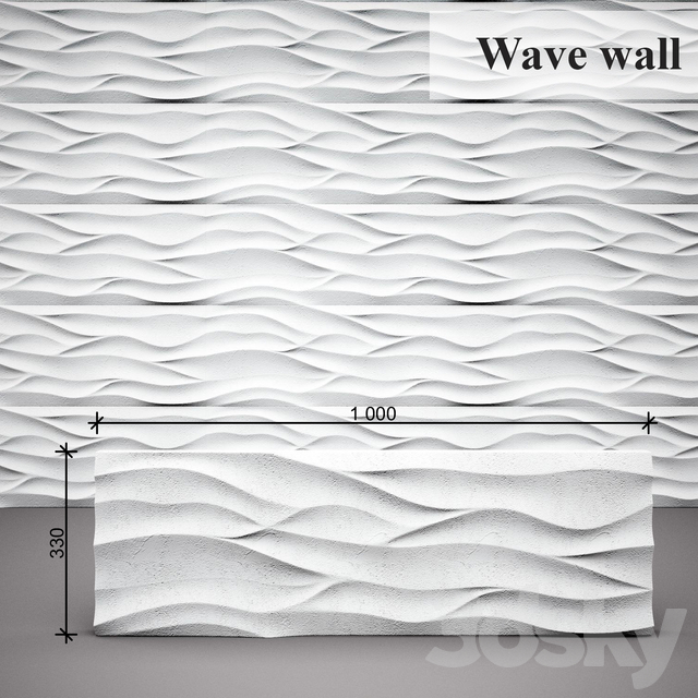 3D panel Wave wall