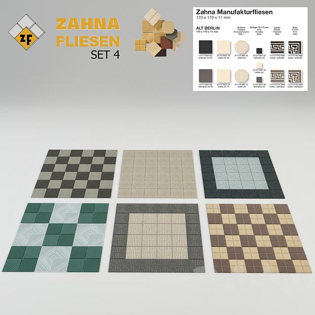 Historical tile Zahna Set 4