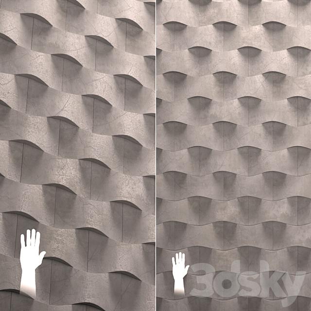 Concrete wall tiles