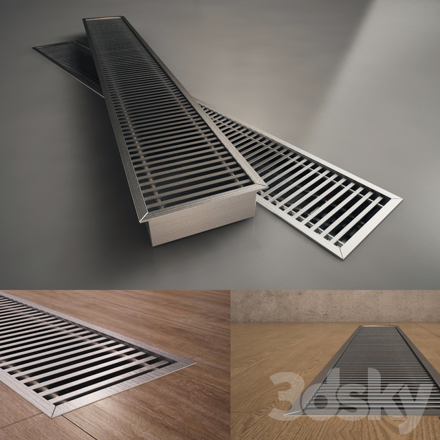 Convector is embedded in the floor