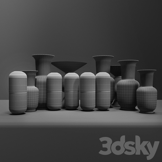 "Set of vases ""Venini"""