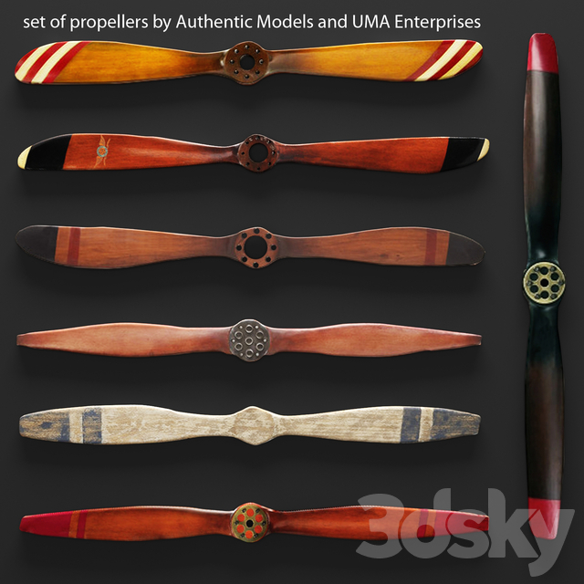 Set propellers from UMA Enterprises and Authentic Models