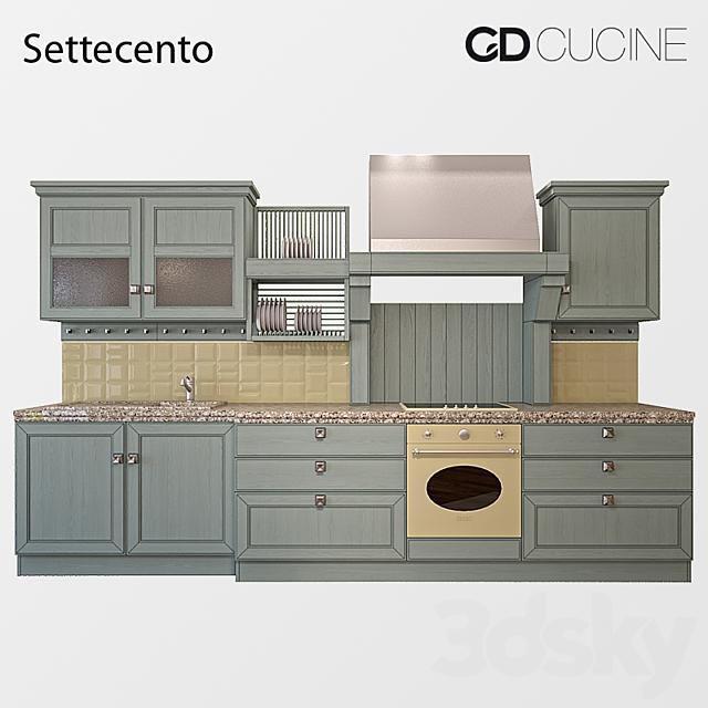 3d Models Kitchen Kitchen Ged Cucine Settecento