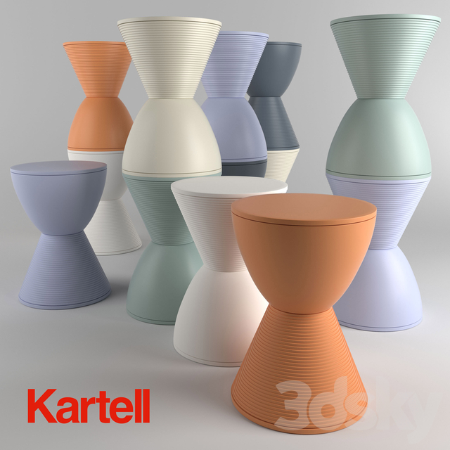 Sofa Modeling In 3ds Max Free Download  3d models table kartell prince aha side table